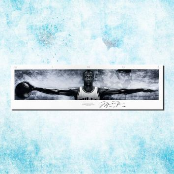 Michael Jordan Shoes MJ 23 Chicago Bulls NBA MVP Basketball Silk Canvas Poster 13x44 20x68inch Picture For Room Decor (more)-14