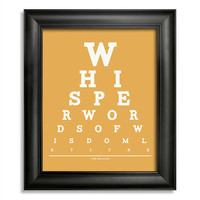 The Beatles, Whisper Words Of Wisdom Let It Be Eye Chart, 8 x 10 Giclee Print BUY 2 GET 1 FREE