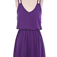 Double Strap Dress - Purple