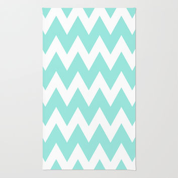 Chevron 4 Tiffany Blue Rug by Beautiful Homes