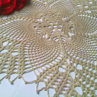 Crochet Doily, Lace Doily, Ivory, Rustic, Country Style, Tabe Decoration