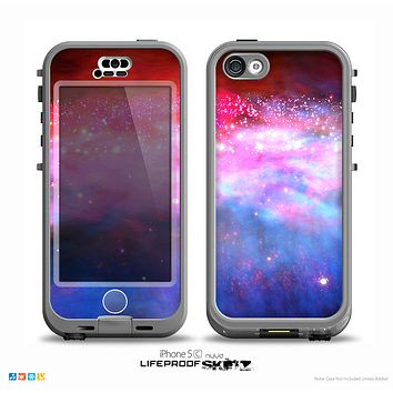 The Vivid Pink and Blue Space Skin for the iPhone 5c nüüd LifeProof Case