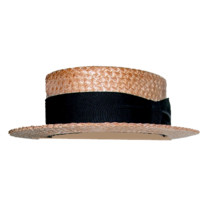 Hat Skimmer Straw Boater Vintage - Historical - Hats