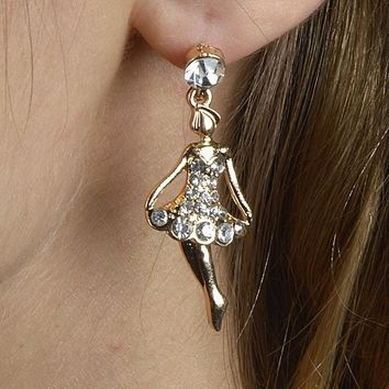 Pave Ballerina Stud Earrings Earrings