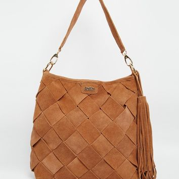 Faith Suede Slouch Hobo Shoulder Bag at asos.com