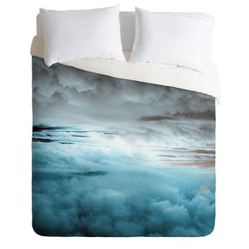 Caleb Troy Glacier Painted Clouds Duvet Cover