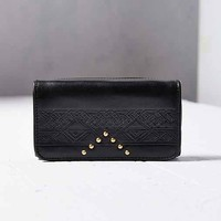 SANCIA Studded Wallet- Black One