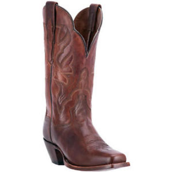 Dan Post Women's Brown Darby Square Toe Cowgirl Boots DP3693