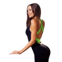 BUYMINE Backless Fitness Jumpsuit