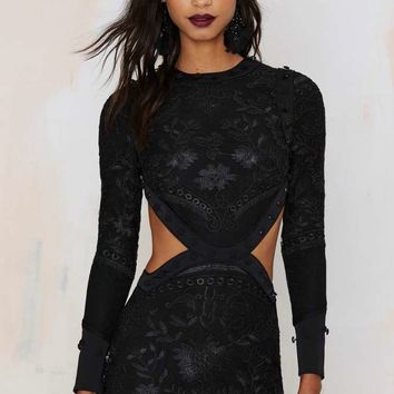 Nasty Gal Dark Side of the Moon Lace Dress