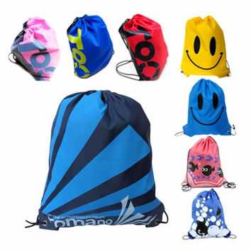 2016 New Double Layer Drawstring Gym Waterproof Backpacks Swimming Sports Beach Bag Travel Portable Fold Mini Shoulder Bags