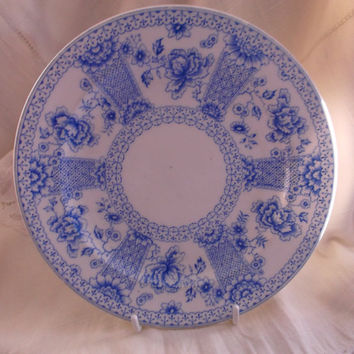 Crown Derby Antique Plate dated 1887 - Chatsworth pattern