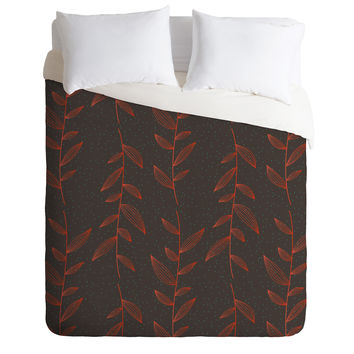 Gabi Of The Vine Brown Duvet Cover