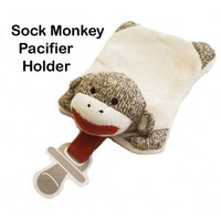 Sock Monkey Company.com - Sock Monkey Pacifier Holder