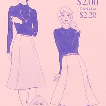 Vintage Stretch & Sew Pattern Gored Skirts #425 with instruction book