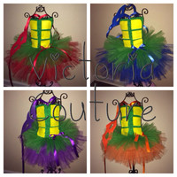TMNT ninja turtle tutu halloween costume dress with mask