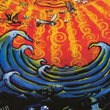 Sublime Sun and Sea Band Art Poster 24x36
