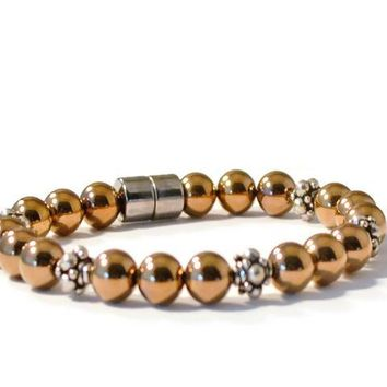 Copper Metallic Magnetic Therapy Bracelet
