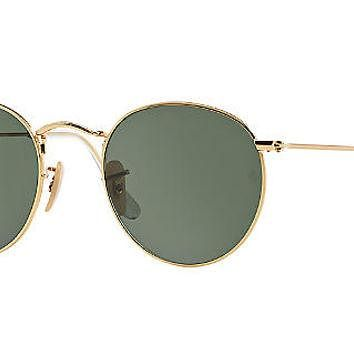 Ray-Ban RB3447 53 ROUND METAL Sunglasses | Sunglass Hut