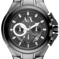 Armani Exchange AX Chronograph Grey Dial Grey Ion-pated Mens Watch AX1181