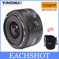 In Stock Yongnuo 35mm lens YN35mm F2 lens Wide-angle Large Aperture Fixed Auto Focus Lens For canon EF Mount EOS Cameras