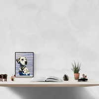 Dog art illustration dalmatian dog