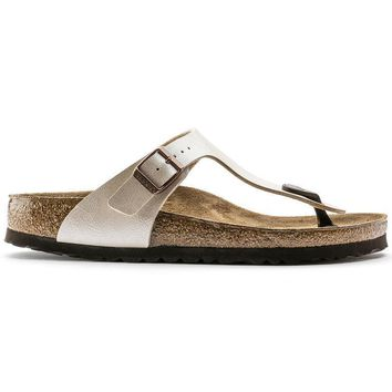 Birkenstock Gizeh Birko Flor Graceful Pearl White 0943871/0943873 Sandals - Ready Stoc