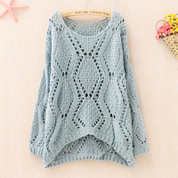 Hollow Out Crochet Long Sweater