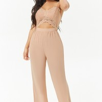 Lace Cutout Cami Jumpsuit