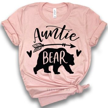 a75b9b5a Aunt Tee Shirt - Auntie Bear Shirts - Best Aunt Shirt - Aunt To