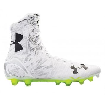 Under Armour White/Silver Highlight Cleats   Lacrosse Unlimited