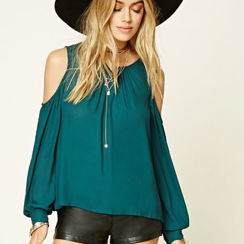 Woven Open-Shoulder Top