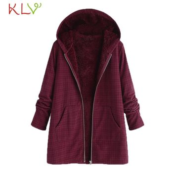 Women Jacket Winter Plus Size Hooded Pockets Vintage Oversize Long 2018 Ladies Chamarra Cazadora Mujer Coat For Girls 18Nov14