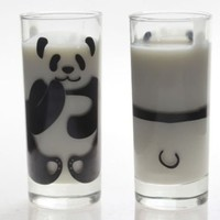1 of Stylish Transparent Panda Glass Cup for Milk Cute Home Decoration (CLEAR)