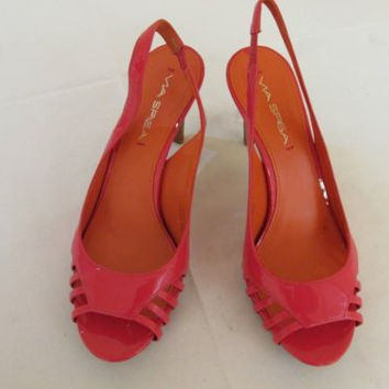 Via Spiga Zabrina Poppy Pat Pink Patent Leather Pumps Women's 8.5 M