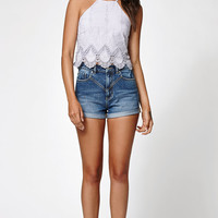 Kendall and Kylie Embroidered Goddess Neck Cami Tank Top at PacSun.com