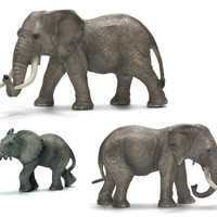 Schleich Africa Elephant Family Figurine Collection - Set of 3
