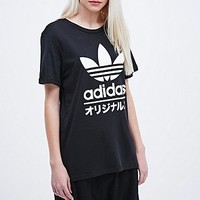 Adidas Typo Tee in Black - Urban Outfitters