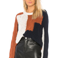 360CASHMERE Marie Sweater in Marble & Rust & Navy