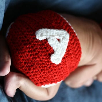 Crochet Alabama Football Hat beanie diaper by BitofWhimsyCrochet
