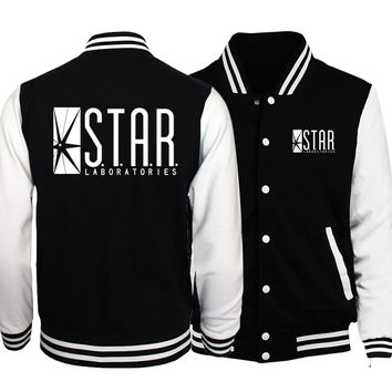 Star S.T.A.R. Labs Baseball Jackets Men 2017 Spring Hot Slim Fit Coat Hoodies Men Brand Skateboard Jacket Plus Size S-5XL