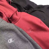 Champion Fleece Jacket Hoodie Fashion Casual Men Wool Embroider Long Sleeve Pullover Coat Sweater G-MG-FSSH