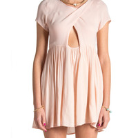 Criss Cross Open Triangle Dress