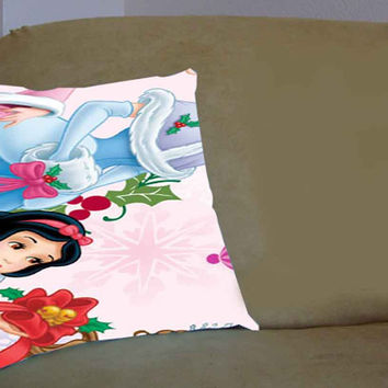 disney princesses christmas - Pillow Case, Pillow Cover, Custom Pillow Case **