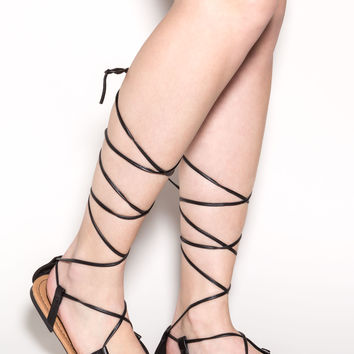 Break The Tie Strappy Lace-Up Sandals