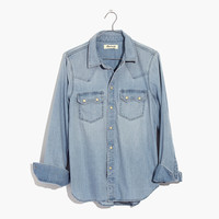 Denim Western Shirt : shopmadewell button-up & popover shirts | Madewell