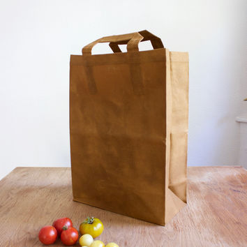 Hand-Waxed Canvas Market Bag