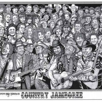 Country Jamboree Howard Teman Art Poster 24x36
