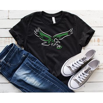 Neon Old School Eagles Bird Premium Short Sleeve T-Shirt
