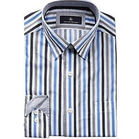 Hart Schaffner & Marx Long-Sleeve Heather Stripe Woven Shirt - White